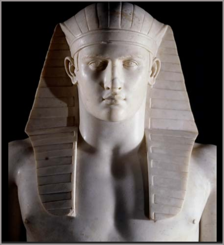 Antinous as egyptian god