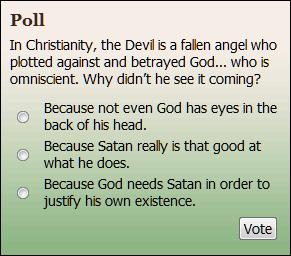 DISBELIEFNET poll