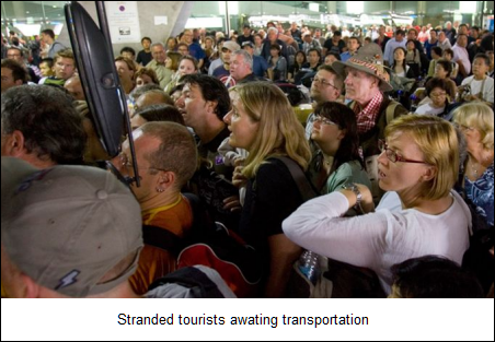 Stranded tourists
