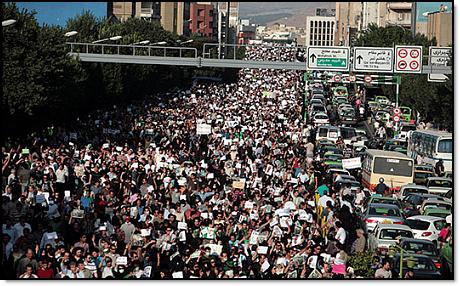 Tehran protest march