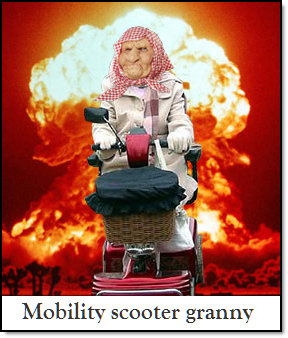 Mobility scooter granny