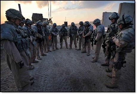 Military prayer session