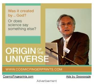 Google ad Cosmic Fingerprints