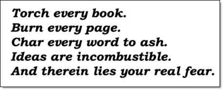 Banned books manifesto