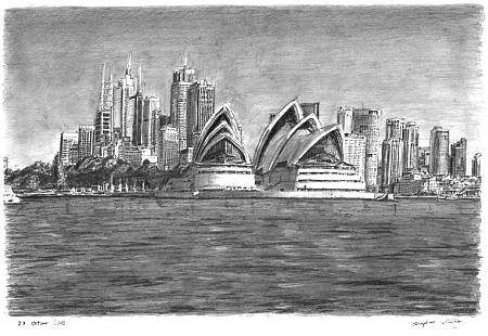 Sydney opera house - stephen wiltshire