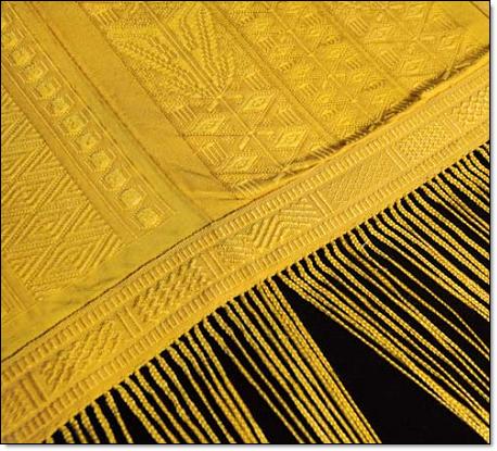 Spiden silk cloth