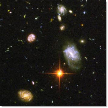 Hubble image - the star -