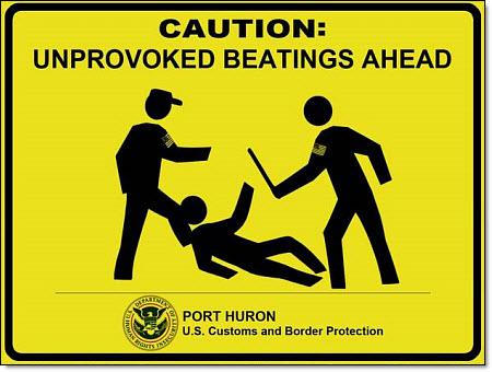 CAUTION - border guards