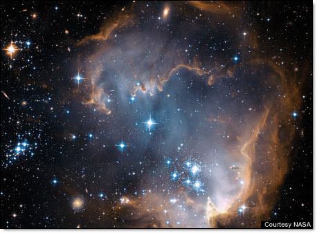 Hubble view of star clustter