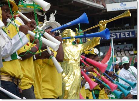 Moroni playing the vuvuzela