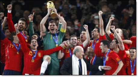 World cup spain wins