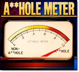 Asshole meter