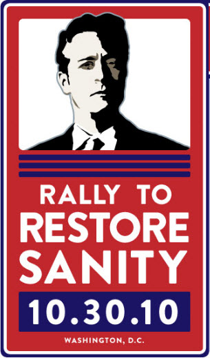 Rally to rrestore sanity poster