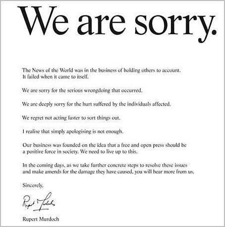18 Murdocks sorry ad